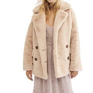 Free People | Kate Rose Buttoned Faux Fur Coat